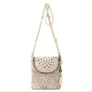 NWT. The Sak Sayulita Crochet Flap Crossbody